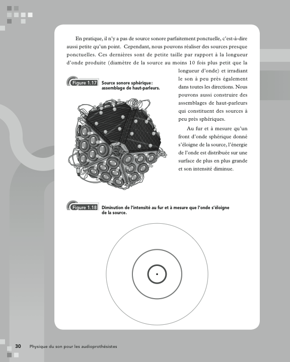 Page d'apendice du livre «Physique du son pour les audioprothésistes»