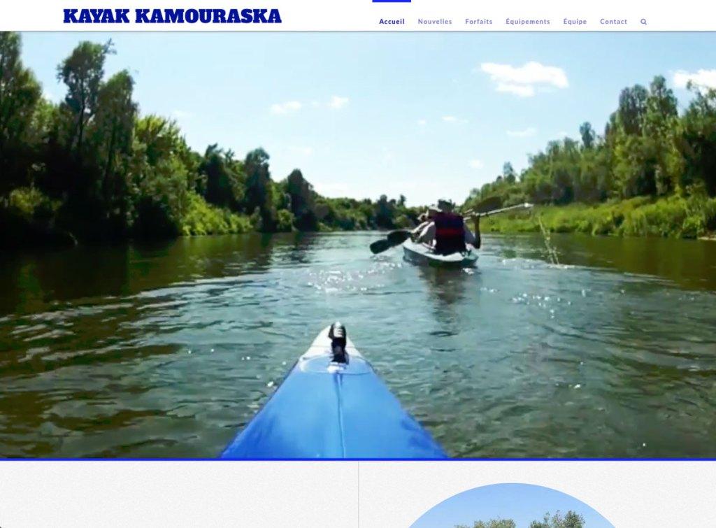 Page d'accueil avec entête vidéo