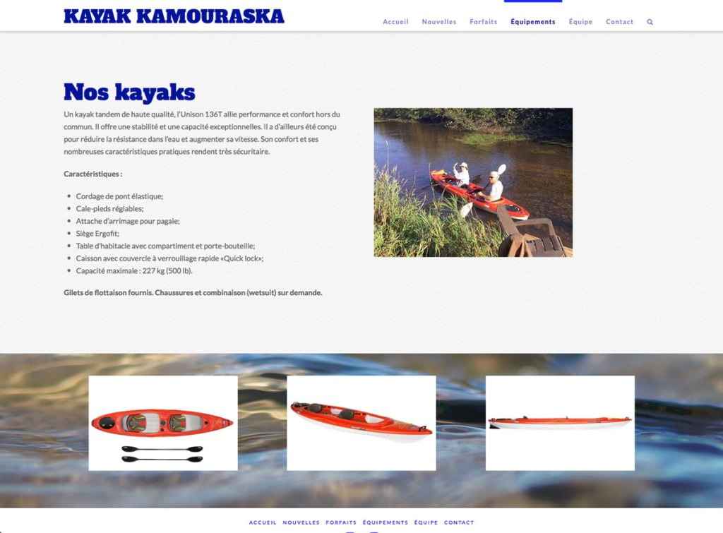Page équipements