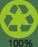 Logo recyclé à 100% de fibres postconsommation
