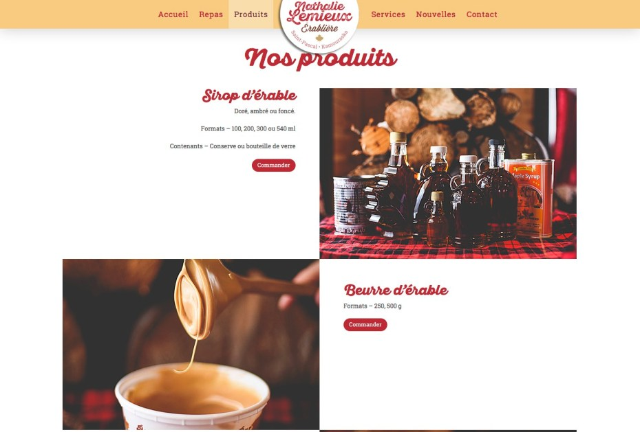 Page Produits