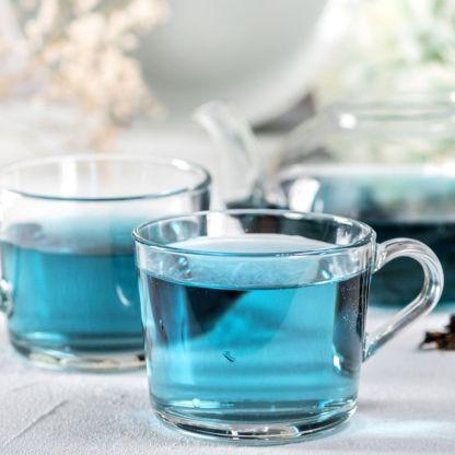 Butterfly Blue Pea Flower Tea in cup