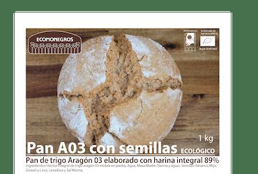 Pan Trigo Aragón 03 con semillas hogaza