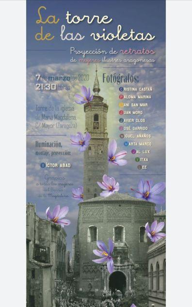 Cartel de la Torre de las violetas