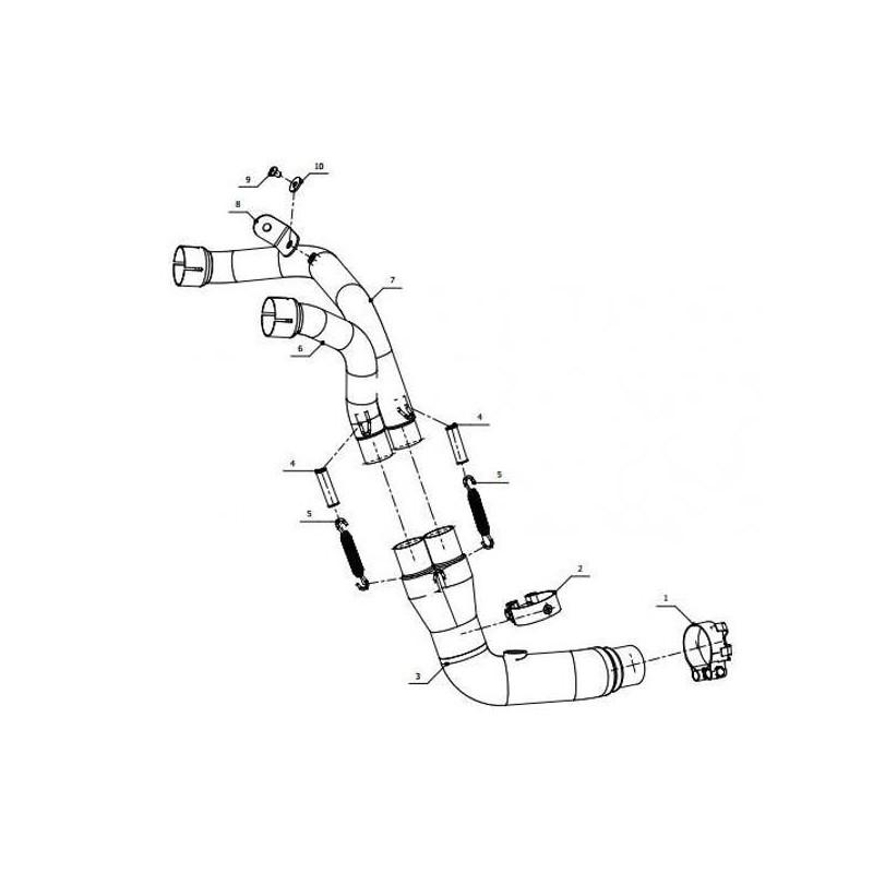 Tube de raccord suppression catalyseur Mivv Triumph 1050