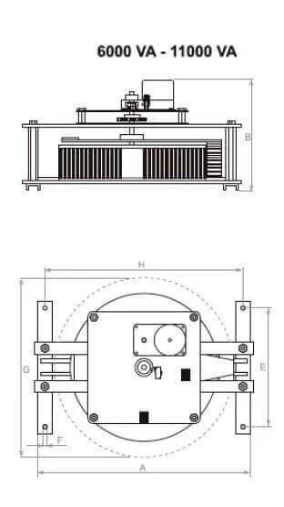 Voltage Variator Single Phase Motorised Adjustment 5000