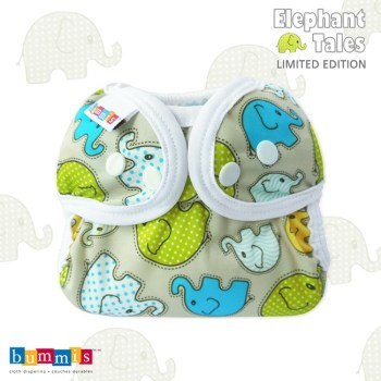 elephant patterned cloth diaper cover wrap