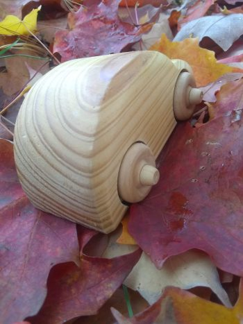 Small wooden toy car, Volkswagon Beetle style