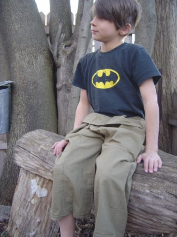 young adult wearing tan siams pants