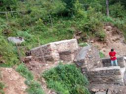 Structure under construction at Samakhoriya Paharepani, Baguwa