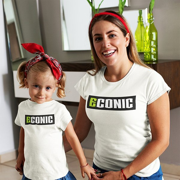mom-and-daughter-wearing-matching-ECONIC-eco-active-t-shirts