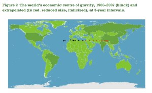 The Chinese Economy will draw the global center of gravity to the East.