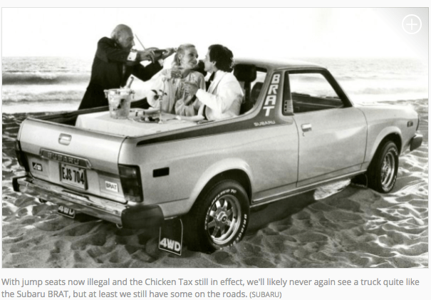 The Subaru Brat and the chicken tax