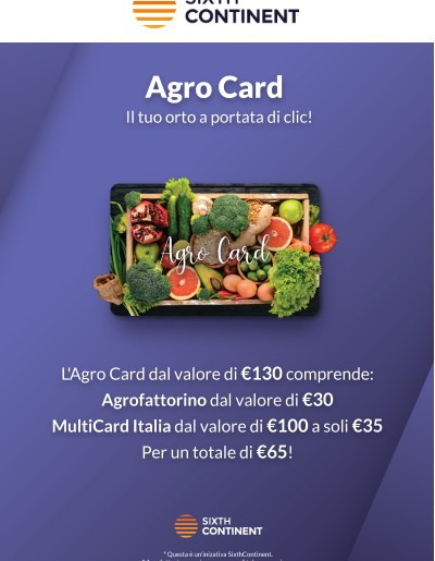 agro card in offerta su sixthcontinent