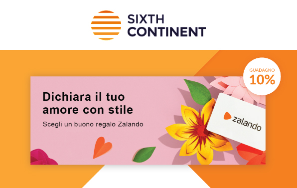 offerta sixthcontinent sulla card zalando