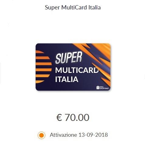 offerta di sixthcontinent sulla multicard italia