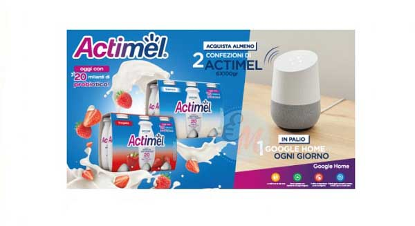 con actimel in palio google home
