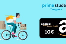ricevi un buono da 10 euro con amazon prime student