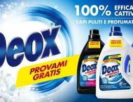 prova gratis il detersivo deox
