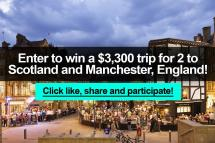 Enter Win 3 300 Trip 2 Scotland And