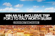 Win -inclusive Trip 2 Italy Worth 5 000