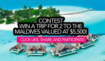 Contest Win Trip 2 Maldives Valued 5 500