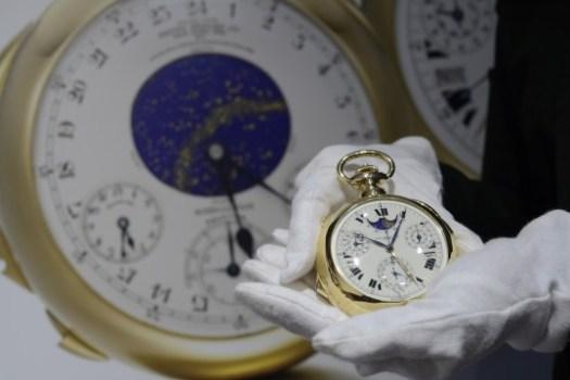 Relógio de bolso mais caro do mundo (Foto: AP)
