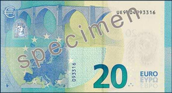 Nova nota 20 euros 2015 outra face
