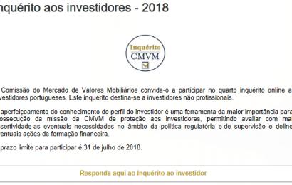 Inquérito da CMVM aos investidores – Participe!