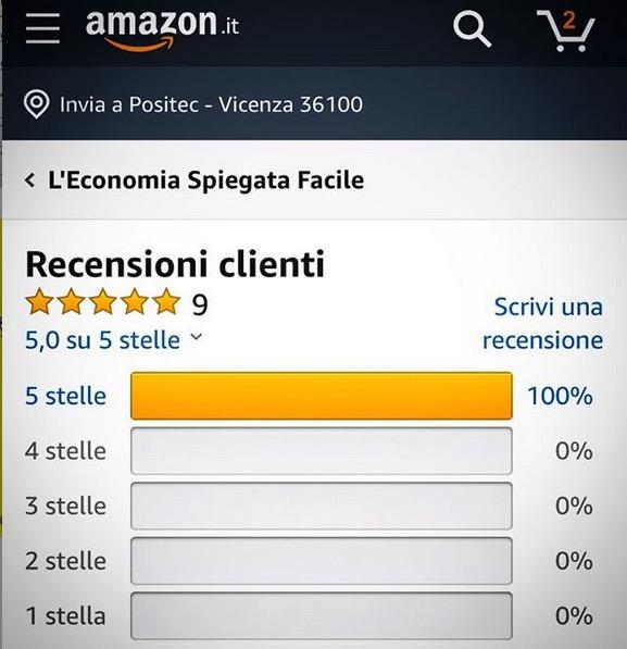 Valutazione Amazon libro di economia spiegata facile