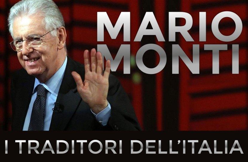 Mario Monti, dalla galleria dei traditori dell'Italia di economia spiegata facile