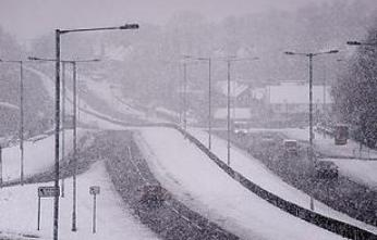 Gateshead covered in snow