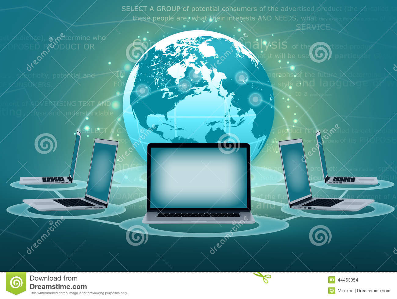 ordenador-portátil-de-los-grupos-de-las-comunicaciones-electrónicas-44453054