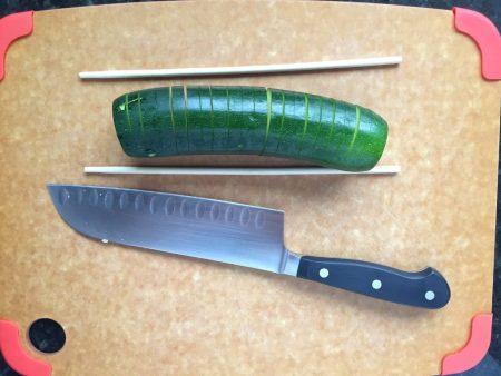 Baked Hasselback Zucchini Cut