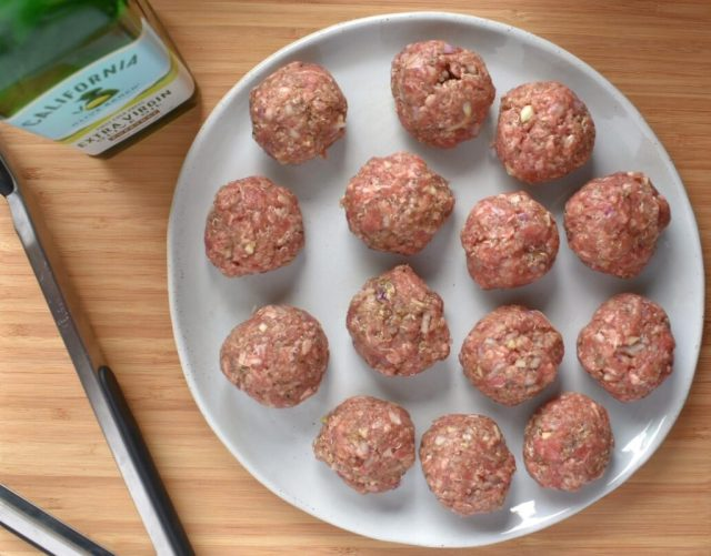 Grass Fed Beef and Quinoa Meatballs pre-cooking