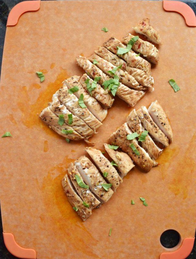 Spicy Honey Balsamic Chicken Cutting Board
