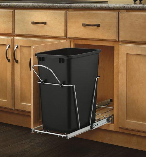 Rev A Shelf Chrome Waste Container