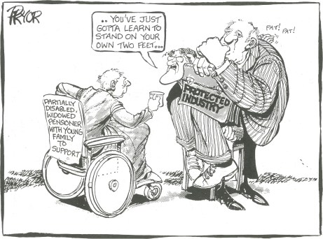 Bert Kelly protected industry Pryor cartoon