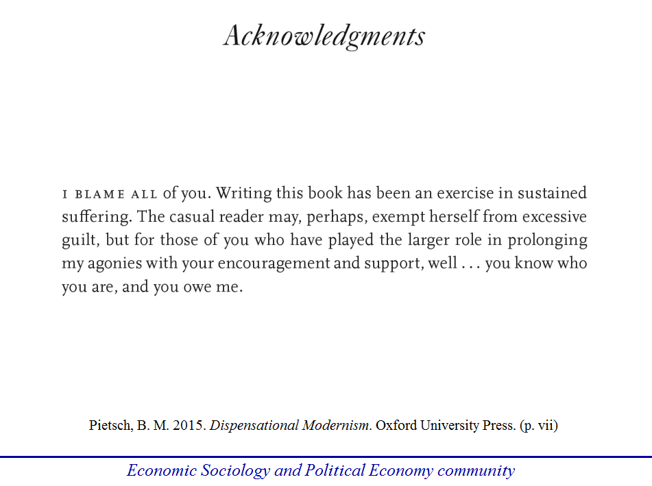 """Probably The Best """"Acknowledgments"""" Ever Economic"""