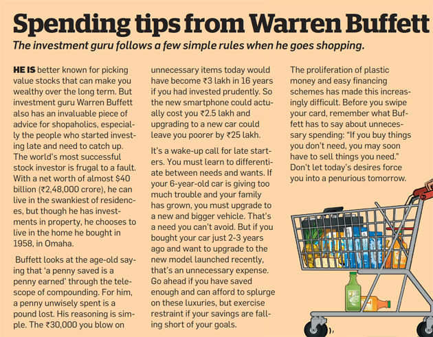 Spending tips from Warren Buffett