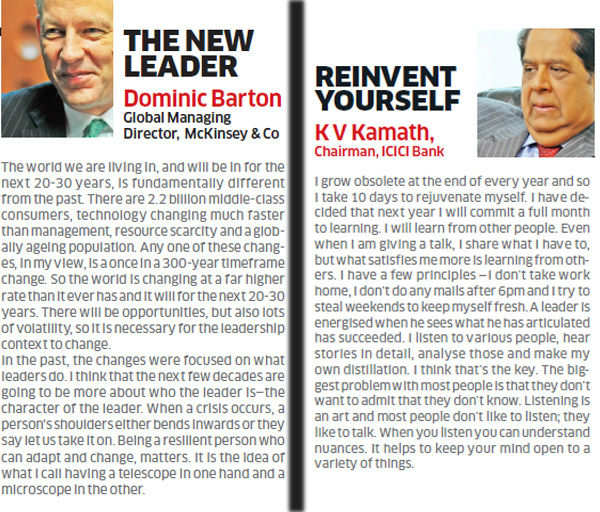 The new leader and reinventing yourself