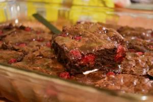Brownies aux framboises