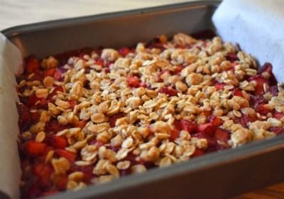 Carrés aux fraises style croustade