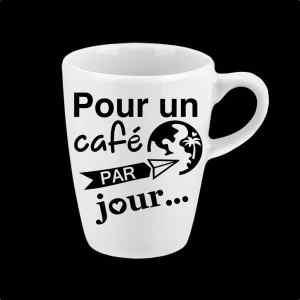 Autocollant pour un café par jour