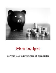 Mon budget format PDF