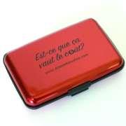 porte-cartes rouge