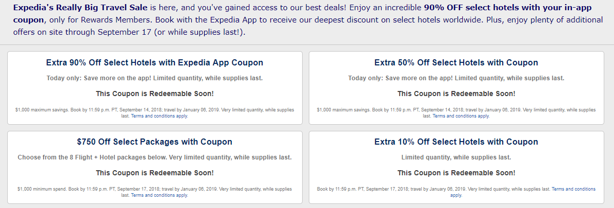 Expedia 90% Off Hotels Coupon