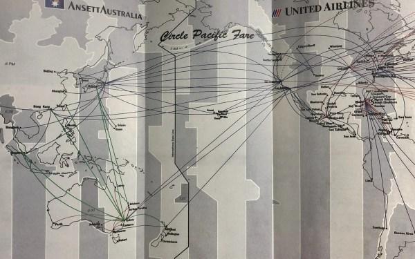 Vintage United / Ansett Australia Circle Pacific Fare Brochure