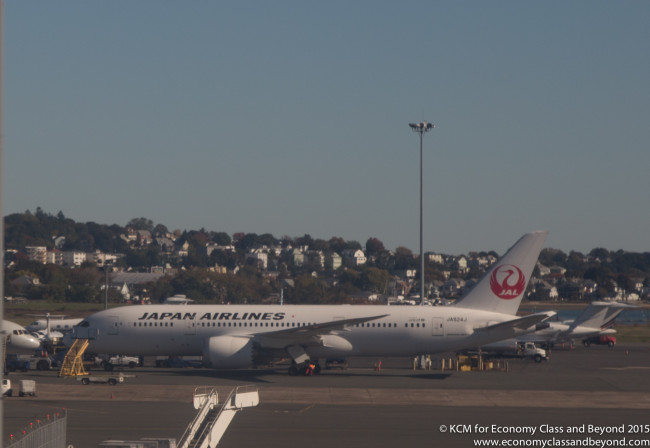 Japan Airlines Boeing 787-8 at Boston Logan Airport - Image, Economy Class and Beyond