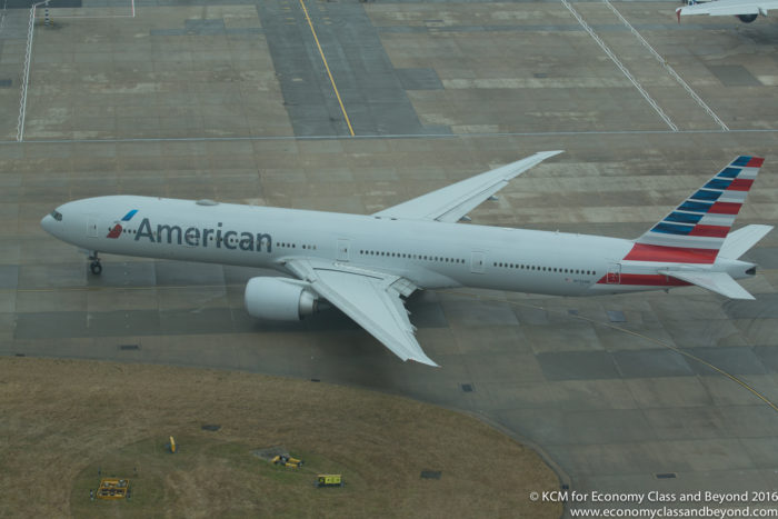 American Airlines Boeing 777 taxing out